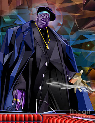 Diamond In The Rough - Biggie Amongst Men Print by Reggie Duffie
