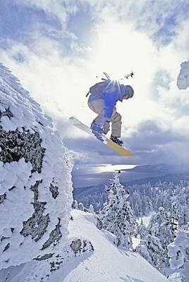Adventuresome Photograph - Diamond Peak, Lake Tahoe, Nevada, Usa by Dan Sherwood