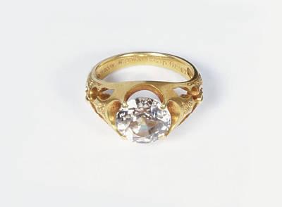 Diamond Engagement Ring Photograph - Diamond Ring by Dorling Kindersley/uig