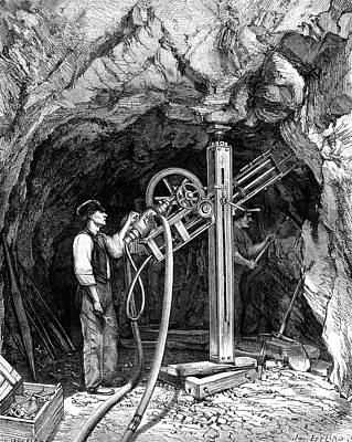 Diamond-tipped Drilling Machine Print by Collection Abecasis