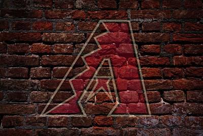 Diamondbacks Baseball Graffiti On Brick  Print by Movie Poster Prints
