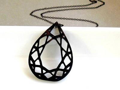 Diamonds Are Forever - Teardrop Diamond Necklace Original by Rony Bank