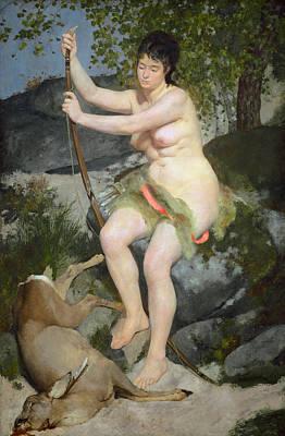 Pierre-auguste Renoir Painting - Diana As Huntress by Pierre-Auguste Renoir