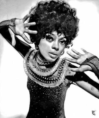 Rhythm And Blues Digital Art - Diana Ross 2 by  Fli Art