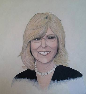 Diane Keaton Painting - Diane Keaton by Patricia Brewer-Cummings