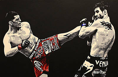 Ufc Painting - Diaz V Condit by Geo Thomson