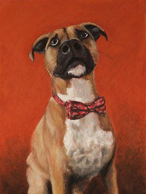 Dog Painting - Did You Say Something by Jeanne Fischer