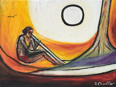 Didgeridoo Player Print by Judith Chantler