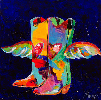 New West Painting - Die With Your Boots On by Tracy Miller