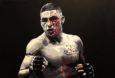 Ufc Painting - Diego Sanchez - War by Geo Thomson