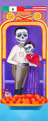 Painting - Diego Y Frida Xochimilco by Evangelina Portillo