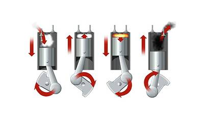 Diesel Engine Cylinder Print by Mikkel Juul Jensen