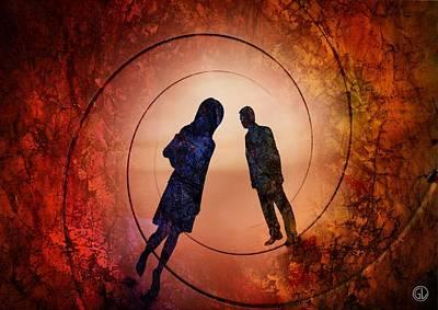 Couple Digital Art - Different Paths by Gun Legler