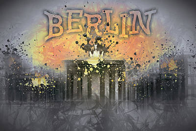 Abstract Sights Photograph - Digital-art Brandenburg Gate I by Melanie Viola