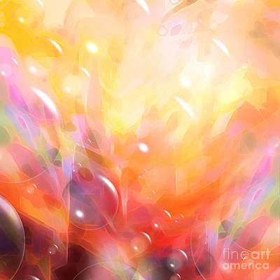 Zen Digital Art - Digital Bubbles by Lutz Baar