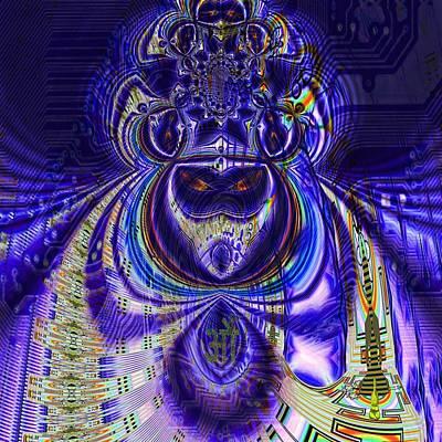 Pink Imaginary Monster Digital Art - Digital Loop Entity by Jason Saunders