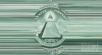Conspiracy Digital Art - Digital Money by Igor Kislev