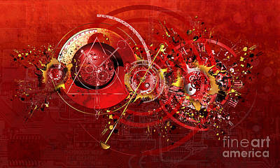 Abstrakt Digital Art - Digital Time Shift by Franziskus Pfleghart