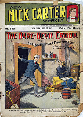 1907 Drawing - Dime Novel, 1907 by Granger