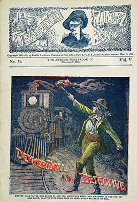 Denver Drawing - Dime Novel Cover, 1900 by Granger
