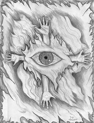Roz Barron Abellera Drawing - Dimension 4 by Roz Abellera Art