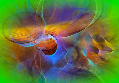 Modern Abstract Art Digital Art - Dimensions by Modern Art Prints