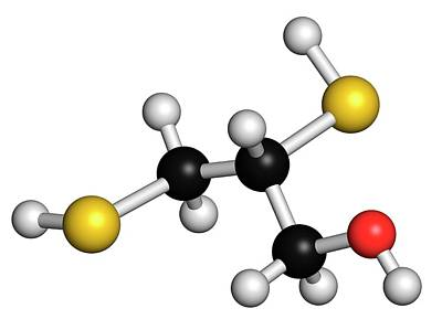 Chemical Photograph - Dimercaprol Metal Poisoning Antidote by Molekuul