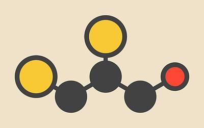 Dimercaprol Metal Poisoning Drug Molecule Print by Molekuul