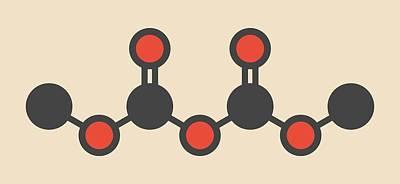 Stylized Beverage Photograph - Dimethyl Dicarbonate Molecule by Molekuul