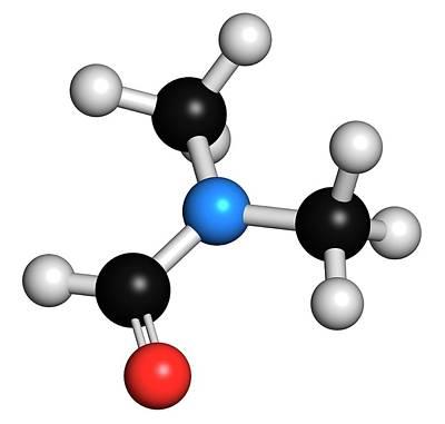 Dimethylformamide Solvent Molecule Print by Molekuul