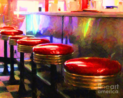 Mels Drive-in Photograph - Diner - V2 - Horizontal by Wingsdomain Art and Photography