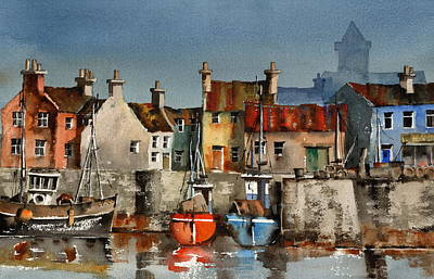 Dingle Harbour  Kerry Print by Val Byrne