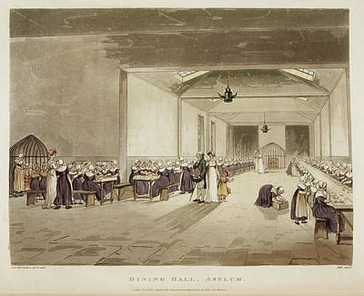 Dining Hall Print by British Library