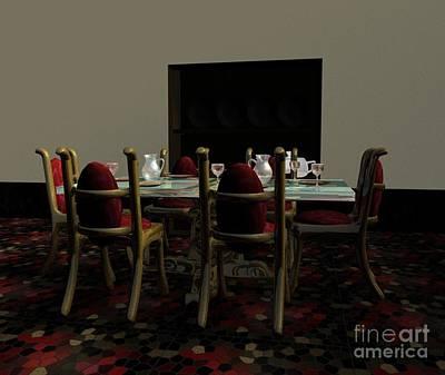 Dining Room Print by Artist Nandika  Dutt