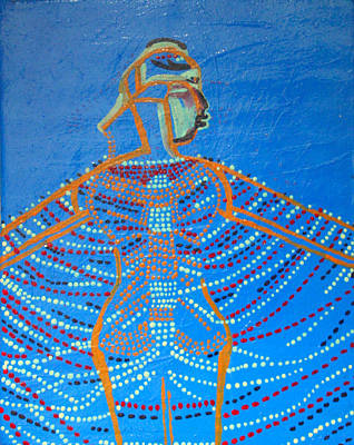 Dinka Painting - Dinka Corset by Gloria Ssali