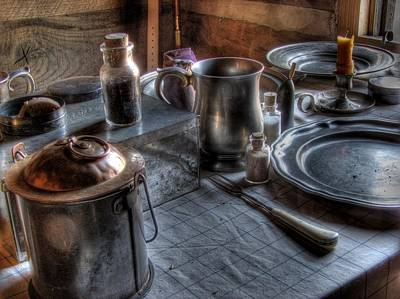 Log Cabin Photograph - Dinner Table by Jane Linders