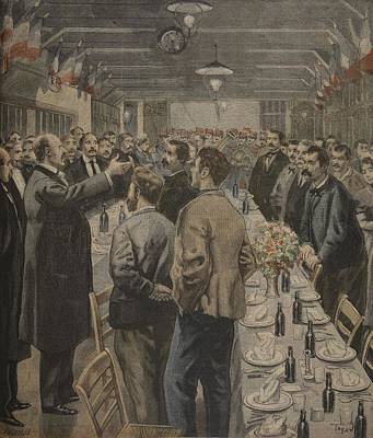 Dinners For The Workers Print by F.L. & Tofani, Oswaldo Meaulle