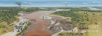 Dinosaur National Monument Panorama Print by Mark Hallett