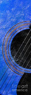 Music Photograph - Diptych Wall Art - Macro - Blue Section 1 Of 2 - Giants Colors Music - Abstract by Andee Design