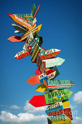 Directions Signs Print by Carlos Caetano