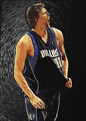 Dirk Digital Art - Dirk Nowitzki by Taylan Soyturk