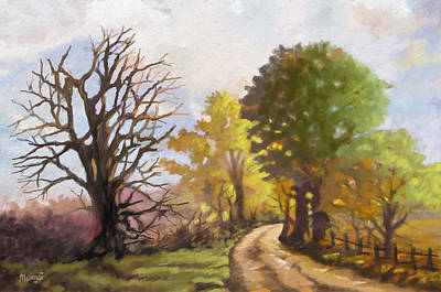 Baobab Painting - Dirt Road To Some Place by Anthony Mwangi