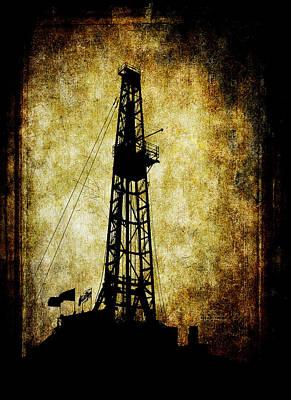 Petroleum Digital Art - Dirty Derrick by Daniel Hagerman