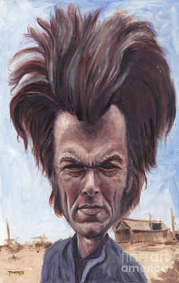 Caricature Painting - Dirty Hairy by Mark Tavares