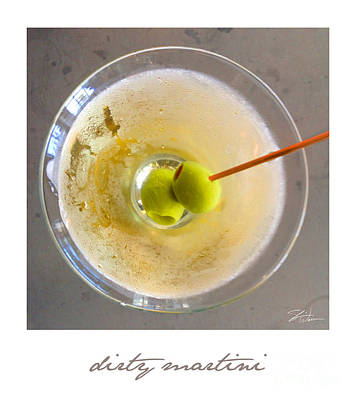 Dirty Martini Poster Print by Shari Warren