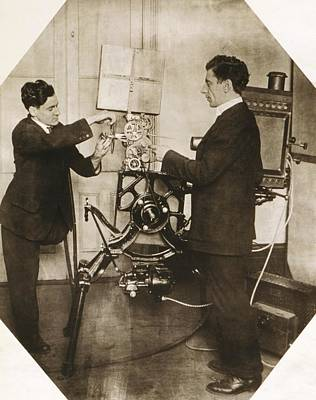 Disabled Film Projectionist, 1919 Print by Science Photo Library