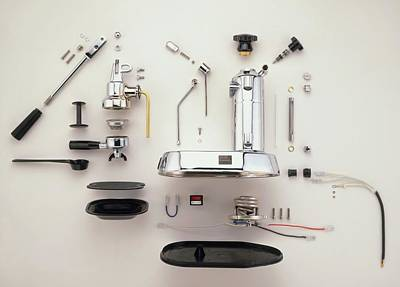 Disassembled Espresso Machine Print by Dorling Kindersley/uig