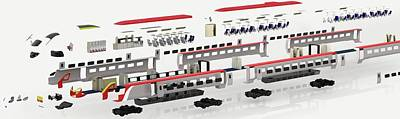 Disassembled Parts Of High-speed Train Print by Dorling Kindersley/uig