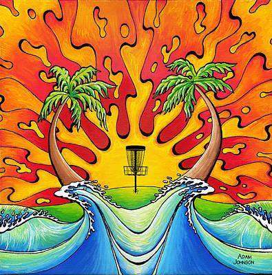 Surf Painting - Disc Golfers Paradise by Adam Johnson