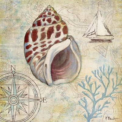 Sand Dollar Painting - Discovery Shell Iv by Paul Brent